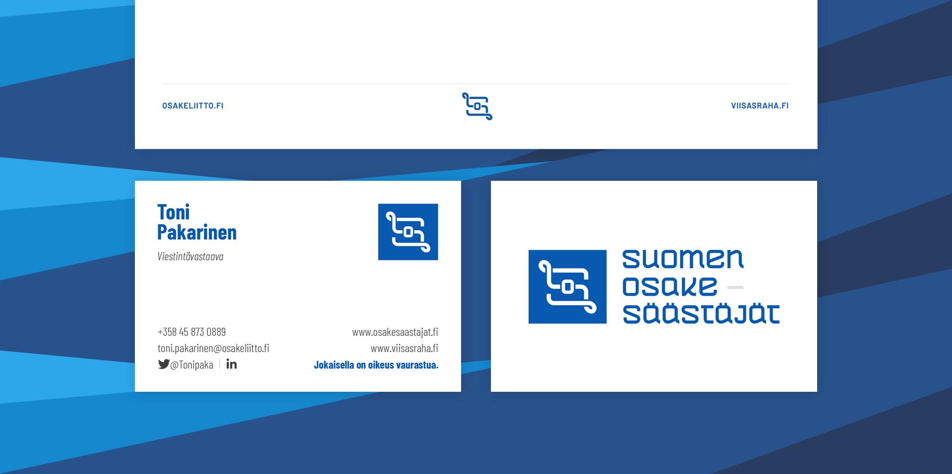 Suomen Osakesäästäjät, käyntikortti